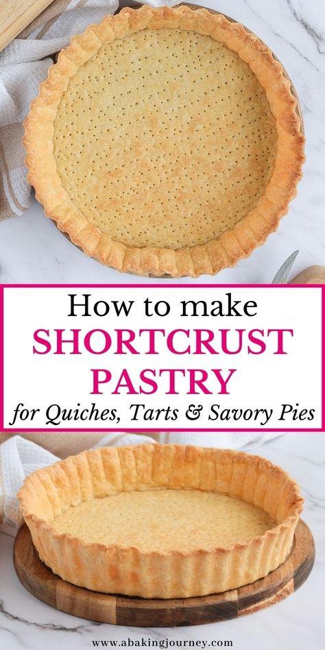 Quiche Crust Recipe, Pastry Crust Recipe, Pie Dough Recipe, Quiche Recipes, Easy Quiche Crust, Almond Flour Tart Crust Recipe, Sweet Pie Crust Recipe, Easy Pie Crust, Cake Recipes