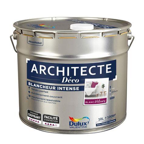 Peinture Blanc Mur Et Plafond Architecte Déco Dulux