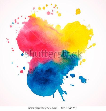 Vector Watercolor Texture Colorful Watercolor Background Vector