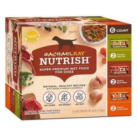 Rachael Ray Nutrish Natural Wet Dog Food Variety Pack 8 Oz Tubs