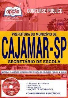 Apostila Prefeitura De Cajamar 2018 Pdf Concursos Publicos
