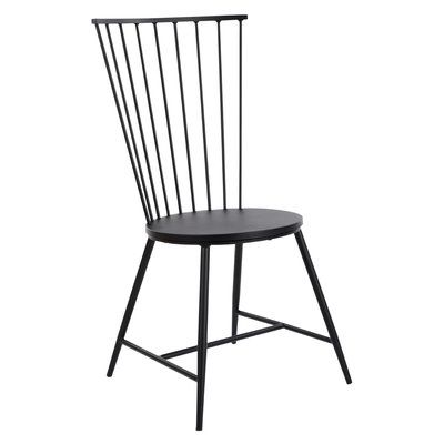 Sand Stable Remy Metal Windsor Back Side Chair In Black In 2021 Dining Chairs Black Metal Dining Chairs Metal Dining Chairs Black metal dining chairs