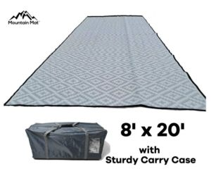 8x20 outdoor patio rug mat for rv and