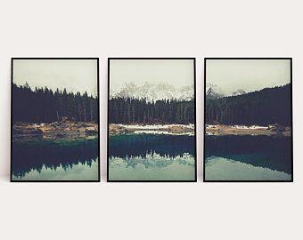 Mountain Beach Print Set Of 3 Mountain Printable Wall Art 3