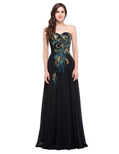 b1288331a GRACE KARIN Mujer Vestido Negro Elegante para Boda Ceremonia De ...