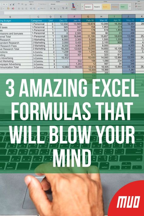 3 AMAZING Excel Formulas That Will Blow Your Mind --- Excel formulas can do almost anything. In this article, you'll learn how powerful Microsoft Excel formulas and conditional formatting can be, with three useful examples. #Excel #MicrosoftOffice #Productivity #Formula #Spreadsheet