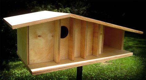 mid-century modern birdhouse