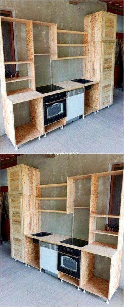 22 Ideas Pallet Furniture Kitchen Cabinets Barn Wood Kitchen