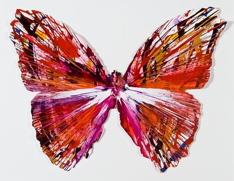 Damien Hirst Spin Painting Butterfly