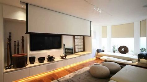Automated Vutec Home Cinema Projector Screen Lowering With Lutron Hometheater Homeautomationthe Home Cinema Room Home Cinema Projector Home Theater Setup