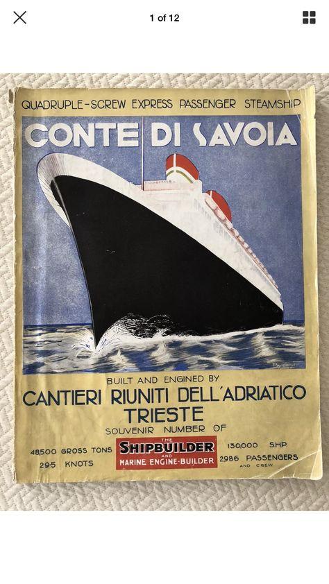 Idea By Oceanic House On Italian Line Conte Di Savoia