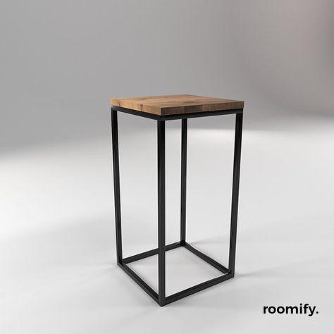 Roomify Beistelltisch 30x30x60cm Hoch Loft Minimal Design