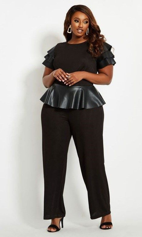 ade53a563c5 Plus Size Black Jumpsuits for Evening
