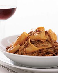 Smoky Pork Pappardelle | For the luscious meat sauce here, Gerard Craft braises pork with apples and honey, which adds some unexpected sweetness. Another surprise: He finishes the pasta with a sprinkling of smoked salt.