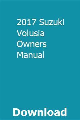 Suzuki boulevard owners manual | renault master, chilton manual.