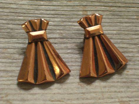 Renoir Copper Earrings Vintage RENOIR Copper by TheCopperCat