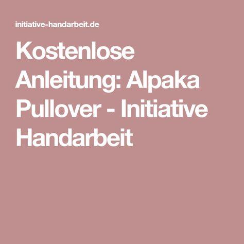 Kostenlose Anleitung Alpaka Pullover - Initiative