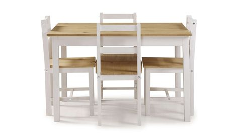 Ensemble Table 4 Chaises De Cuisine En Pin Massif Madrid Coloris