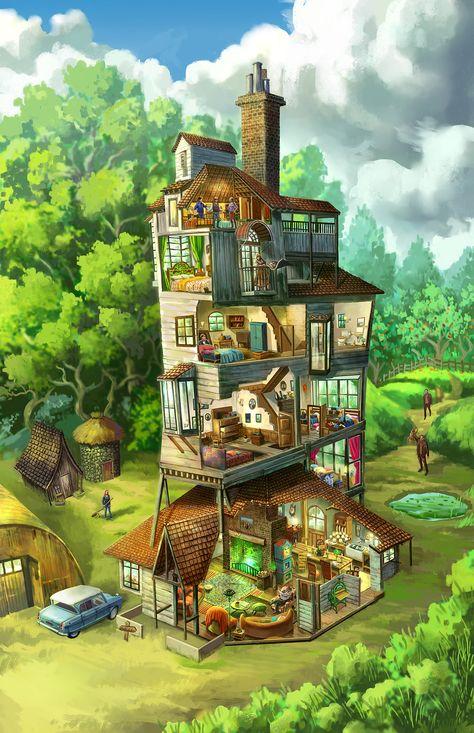 Weasley House - Harry Potter on Behance