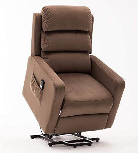 Fraser Fabric Electric Recliner Armchair Wathet Blue Reclining Armchair Armchair Electric Recliners