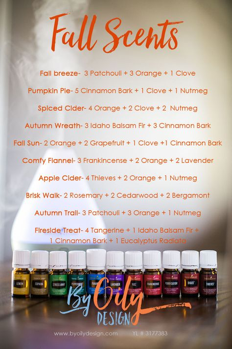Use Essential oils to create a fall scent in your home.