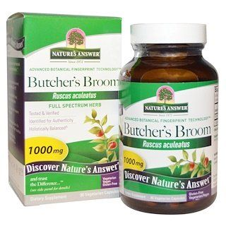 Nature S Answer Butcher S Broom Full Spectrum Herb 1000 Mg 90 Vegetarian Capsules Herbalism Veggie Capsule Vegetarian