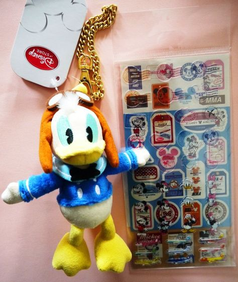 NEW Tinker Bell Plush doll key chain strap Disney store Japan