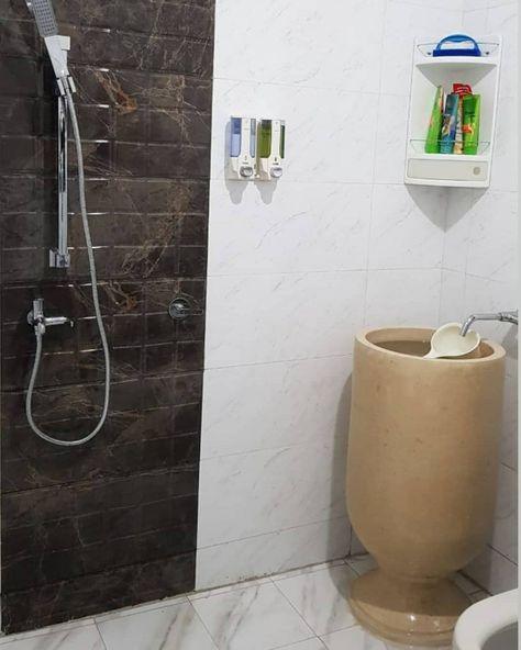 Gucu Terrazzo Mewah Bak Mandi Desain Mandi Minimalist bathroom design 1x1 desain