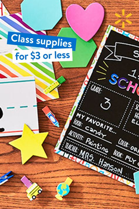 $3 supplies–easy with curbside pickup at the teacher shop. However you go back, we've got your back–for less. $30 min. Restr. apply.