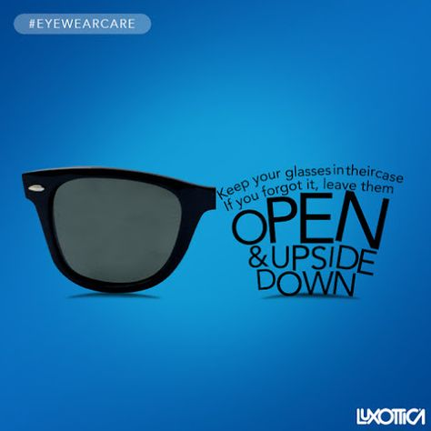 Always take care of your sunglasses. #EyeWearCare