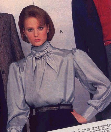 1980s silky ruffle neck blouse /& skirt suit