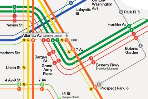 Prospect Park Subway Map.The New York City Subway Map Redesigned Subway Map Subway Map