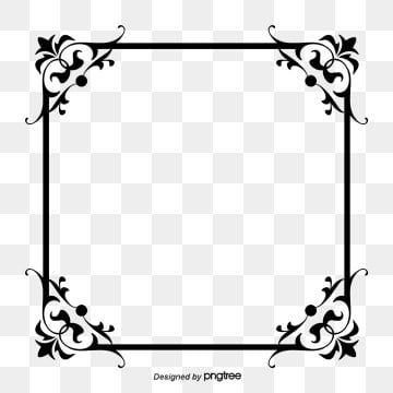 European Style Black And White Photo Frame Black Vector Frame Vector Frame Png Transparent Clipart Image And Psd File For Free Download White Photo Frames Black And White Background Free Photo