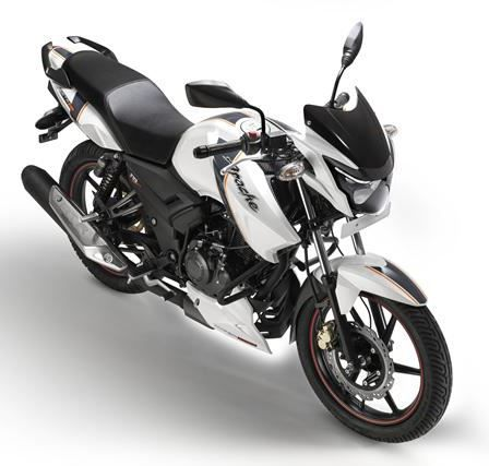 Tvs Apache Rtr 160 In White Shade Bike Bike News Bike India