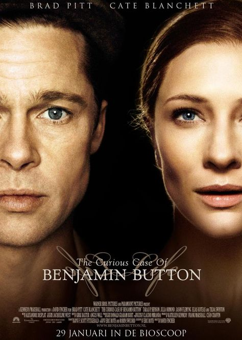 The Curious Case of Benjamin Button (2008) really good film he ages backwards old to young.. But good story..