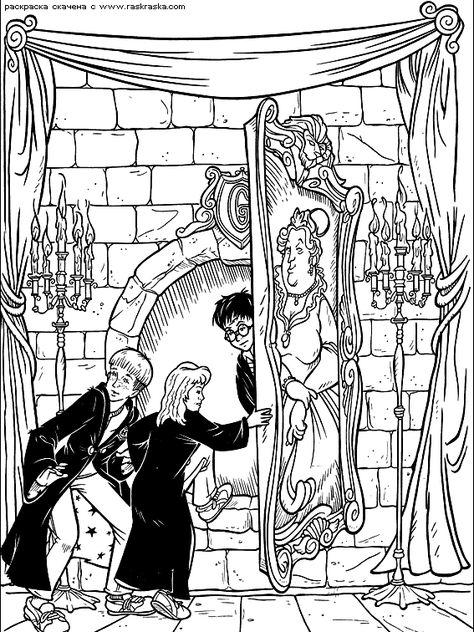 Harry Potter Coloring Page Cizim Boyama Sayfalari