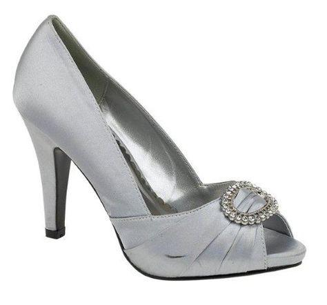 60c853e33e8 Ladies Womens Navy Silver Champagne Diamante Peep Toe Evening Wedding Prom  Court Shoe Highfields