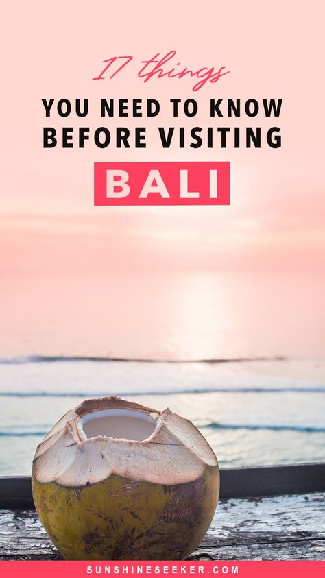 17 important things you need to know before visiting Bali, Indonesia. You'll learn what to wear in Bali, the best time to go to Bali, how to respect the culture in Bali, scams to avoid in Bali, how to get around Bali and so much more #bali #balilife #balitips #indonesia