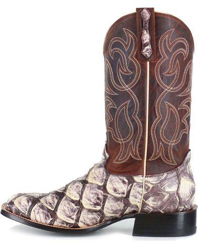 e32c799f2f4 Cody James Men's Pirarucu Thunder Exotic Boots - Square Toe ...