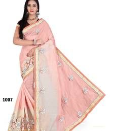 000b263f005 Buy Light pink embroidered chanderi saree with blouse chanderi-saree online  Embroidery Saree