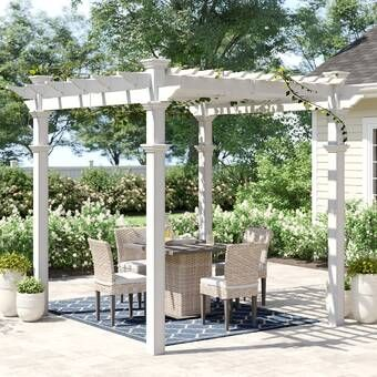 Yardcraft 10 Ft W X 12 Ft D Solid Wood Pergola With Mounting Kit Reviews Wayfair In 2020 Vinyl Pergola Wood Pergola Aluminum Pergola
