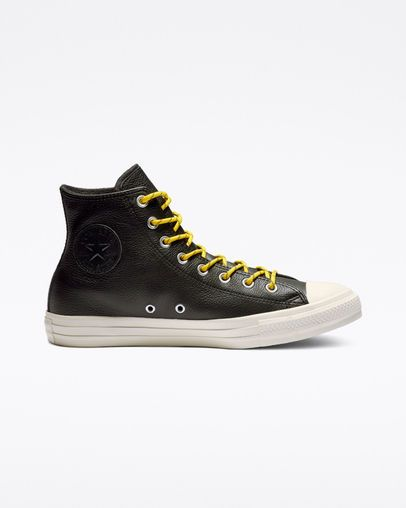 Chuck Taylor All Star Limo Leather High Top BlackBold