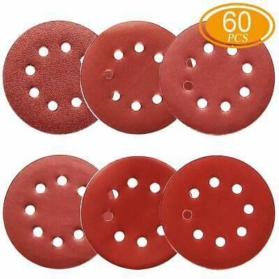 Details About 60pcs Sanding Discs 5 Inch 8 Holes 1000 800 600 400 320 240 Grit Sandpaper For In 2020 Sandpaper Car Tools Sanding