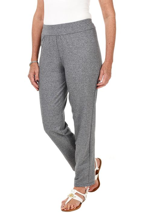 Sporty Chic Pull-On Terry Pant