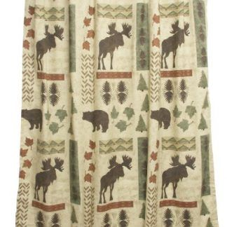 Bacova Guild Big Country S Bears And Moose Shower Curtain