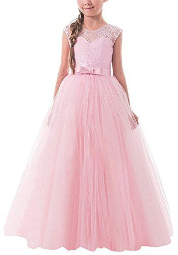 Flower Girl Dress for Kid Maxi Wedding Pageant Birthday Party Long Dresses Gown