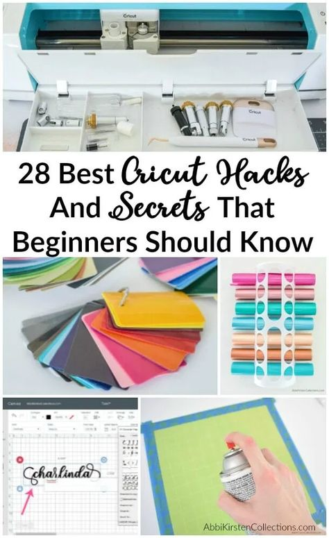 Circuit Projects Discover Cricut Hacks The Every Beginner Should Know - 28 Cricut Tips and Tricks The best 28 Cricut and Design Space Hacks that every beginner should know. These Cricut hacks will keep you organized and help you in Design Space! Cricut Mat, Cricut Craft Room, Cricut Air 2, Vinyl For Cricut, Tips And Tricks, Teacher Hacks, Cricut Explore Projects, Cricut Project Ideas, Cricut Vinyl Projects