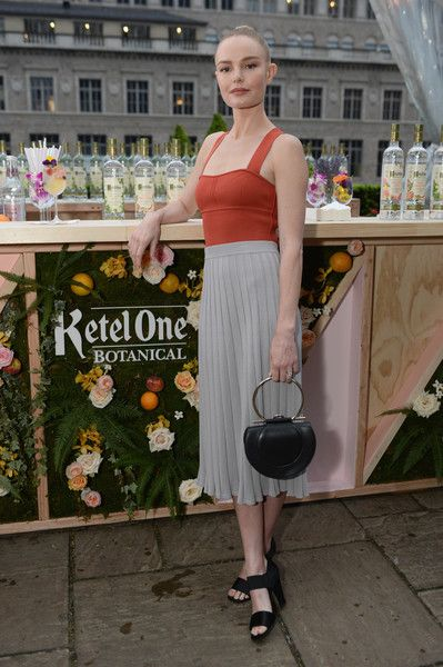 Kate Bosworth hangs out by the Living Botanical bar at the Launch of Ketel One Botanical.