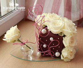 Cube De Mousse Florale Avec Fiole En Verre Compo Bp