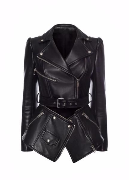Vegan Detachable Double Leather Jacket In 2020 Biker Jacket Fur Collar Leather Jacket Vegan Leather Jacket
